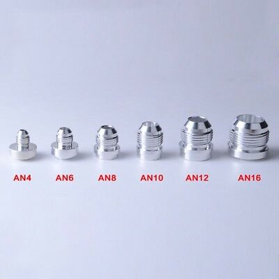 1Pc Various AN Male Weld On/In Bungs Billet Aluminum Weld Fittings Bare Fittings