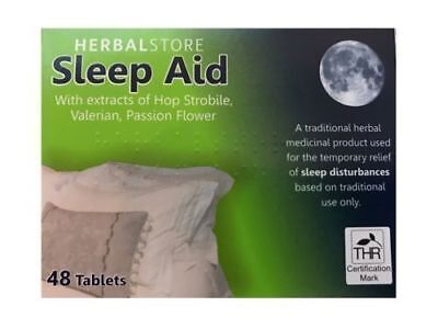 Herbal Store Sleep Aid (48 Tablets) Sleeping Pills, Natural Stress Relief Remedy
