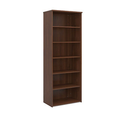 Universal bookcase 2140mm high with 4 shelves - walnut