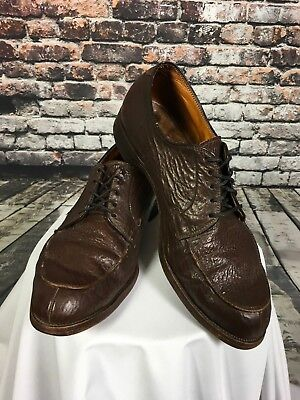 VTG Men's Genuine Sharkskin Shoes Size 10 B.F. Goodrich Clyde Campbell Lace Up