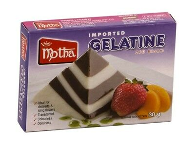 MOTHA HALAL GELATINE POWDER 200 BLOOM 30g/100g  odourless/colorless/transparent