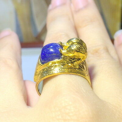 Sterling Silver The Double Headed Duck Egyptian Band Collectible New Egypt Ring