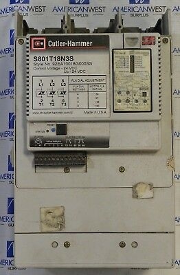 S801T18N3S Cutler Hammer Reduced Voltage Soft Starter 180 Amp 600V GOOD