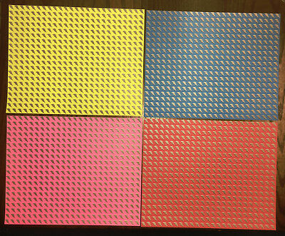 Set Of 4 Sheets Of Lightning Bolts Blotter Art Early 2000S Clearance Last Sheets