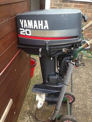 YAMAHA 20HP outboard engine, standard shaft,two stroke with remotes