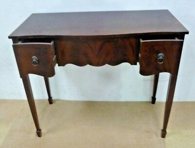 SMALL Mahogany Hall Table Console 2 Drawer Entry Writing  SPADE LEGS