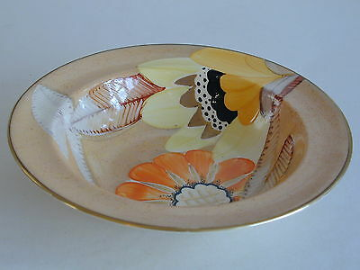 Art Deco Grays Susie Cooper style Desert Bowl handpainted gilded 'Sunbuff' A2999