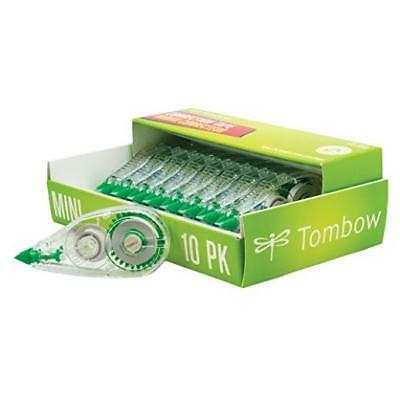 "Pack Of 10 Tombow Mono Mini Correction Tape 1/6"" X315"" Non-Refillable Clear (687"