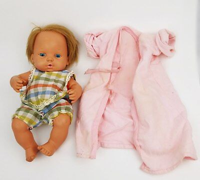 VINTAGE 1972 NEW BORN  BABY TENDER LOVE DOLL BY MATTEL Blonde With Blue Eyes