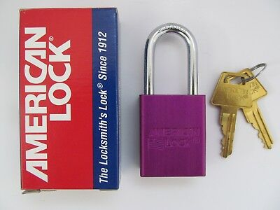 American Lock Series A1100 Purple Padlocks with 2 keys