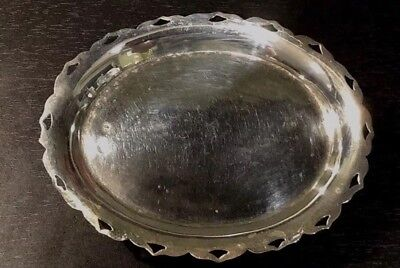 Egyptian Solid Silver 1930's Salver with four feet.