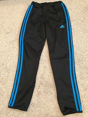 EUC youth ADIDAS Tiro 15 Blue stripe RARE Training Pants Soccer Futbol Sz Y Med