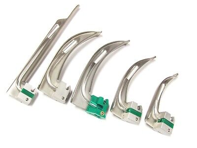 Single Use Fiber Optic Laryngoscope Blades Stainless Steel