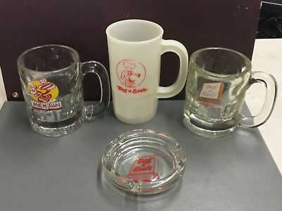 Lot Of Dog N Suds Rootbeer Mugs & Ashtray