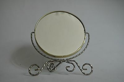 Vintage Vanity Mirror Magnifying Makeup Tilt Stand Tabletop Double
