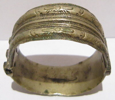 Post Medieval Silver Two Parts Bangle/artifact Ancient Bracelet # 469