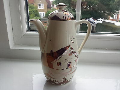 Art Deco Grays handpainted Lustre ware Farmhouse Coffee Pot