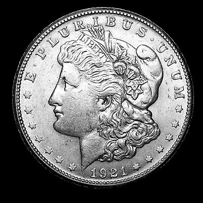 1921 S ~**ABOUT UNCIRCULATED AU**~ Silver Morgan Dollar Rare US Old Coin! #917