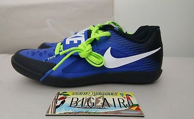 New Mens Nike Zoom Rival SD 2 Shot Put Discus Shoes Blue size 4 (685134