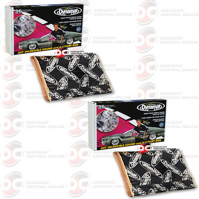 2 x NEW DYNAMAT 10455 XTREME SOUND DAMPENING  BULK PACK 9 SHEETS 36 SQ FT