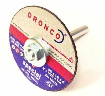 Dronco mini metal cutting disc 6mm bore 50 60 75mm die grinders drill or arbour
