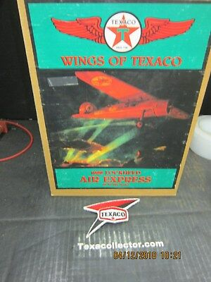 Texaco #1 Plane NIB & Hex Logo Texaco Aviation Patch