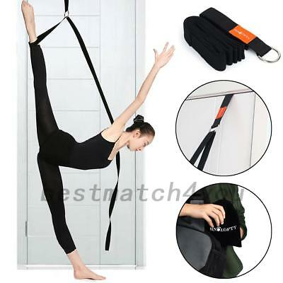 Yoga Resistance Band Ballet Stretch Strap Dance Gymnastic Exercise Belt+ Bag