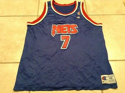 2ae039f3959 New Jersey Nets Kenny Anderson Vintage Champion Jersey Very Worn Condition  48