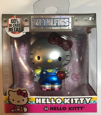 METALFIGS-HELLO KITTY-Die Cast Figure-S3-Silver Blue Metal Collectible-Sanrio