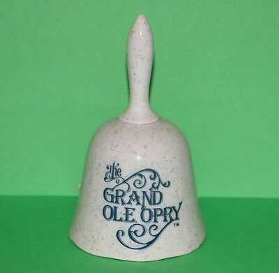 Vintage Grand Ole Opry Speckled Collector Souvenir Hand Bell 5""