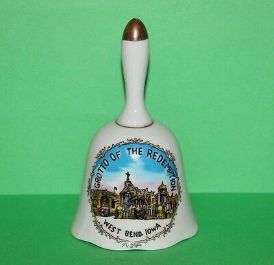 Grotto of the Redemption West Bend IA Porcelain Collector Souvenir Bell 5.25""
