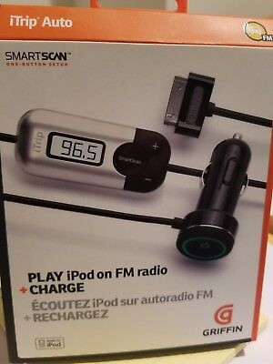 Griffin iTrip Auto SmartScan FM w/Car Charger for iPhone 4S 4 & iPod Classic NEW