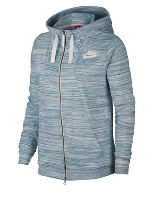 Nike Women's Sports Blue/Natural Printed Hooded Jacket (924081-401) S/M/XL