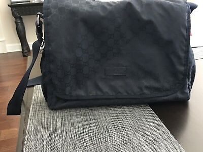 Authentic Gucci Diaper Bag - Blue With Changing Mat Hardly used