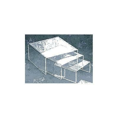 Small Low Profile Riser 3pcs Set in Clear Acrylic by Display Stands