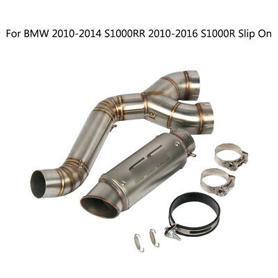 For 10-16 BMW S1000RR Exhaust System 60.5mm Mid Link Pipe Tail Escape Motorcycle