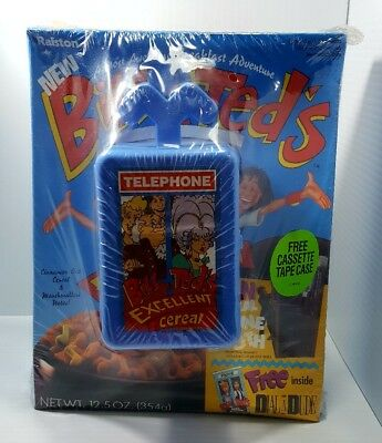 1991 Bill & Ted's Excellent Adventure Cereal Sealed w/ Cassette tape case NEW