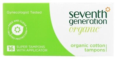 Seventh Generation - Organic Cotton Chlorine Free Super Applicator Tampons - 16