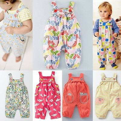 New Baby Mini Boden Girls Fun Animal Jersey Dungarees Overalls RRP £26 0-3m-2-3y