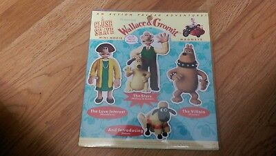 Wallace & and Gromit A Close Shave 4 pc fridge magnet set 1998 New!! RARE.