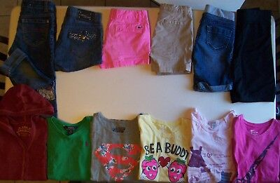 Girls Spring clothes lot size 8 Girls clothes size 8 Justice NIKE Polo MISS jean