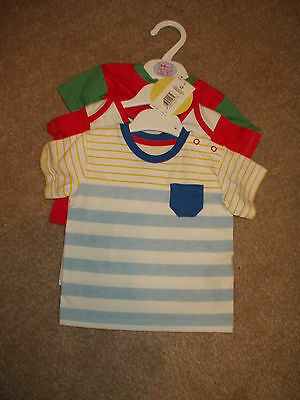 Baby Boy T Shirts X 3. 3/6 Month. Marks & Spencer. Bnwt