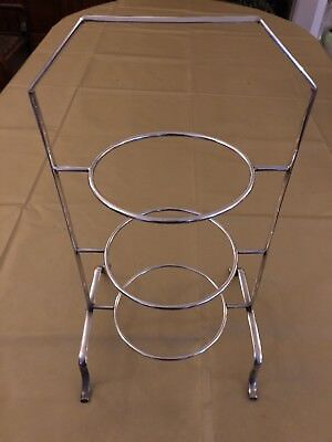 Antique Sheffield silver plate 3-tiered cake stand & ANTIQUE SHEFFIELD SILVER plate 3-tiered cake stand - £23.00 ...