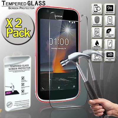 2 Pack Tempered Glass Screen Protector Cover For Nokia 1