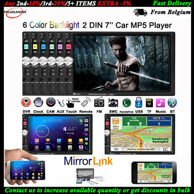 2 Din HD 7 Inch Car Radio Bluetooth MP5 Player Car Stereo Head Unit  USB AUX FM