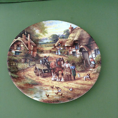 Wedgwood Collectors Plate - Country Days - Early Morning Milk