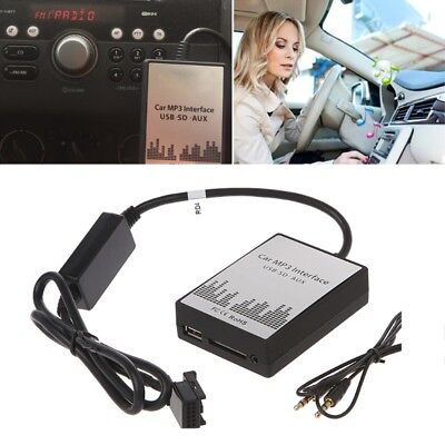 USB SD AUX Car MP3 Music CD Changer Adapter For Peugeot 307 407 Citroen C4 C5