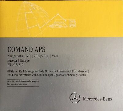MERCEDES Europa DVD COMAND APS VERSION 2011  NTG 4 serie 207/212 E-Klasse (4.0)