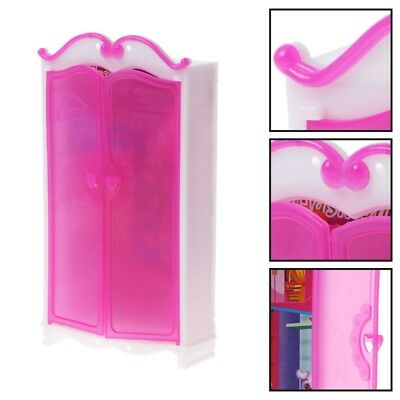 Princess Furniture Wardrobe For Barbie Dolls Doll House Closet Accessories Toys