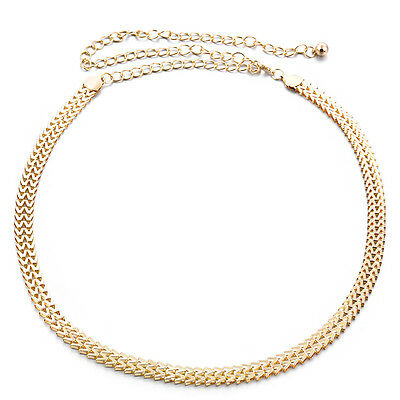 Gold Women Ladies Girl Waist Belt Charm Chain Fully Adjustable Casual Party Wear